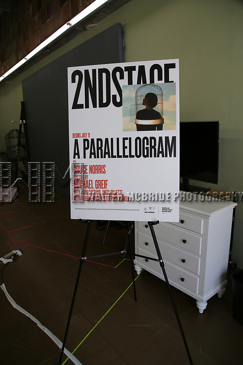 Cast photo call for the Second Stage production of  'A Parallelogram' at the Second Stage rehearsal studios on June 29, 2017 in New York City.