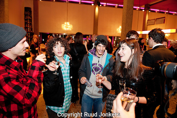 The Netherlands, Rotterdam, 21 January, 2011. .International Film Festival Rotterdam 2011. .crew openingsfilm wasted youth.Photo: Ruud Jonkers Copyright and ownership by photographer. FOR IFFR USE ONLY. Not to be (re-)distributed in any form. Copyright and ownership by photographer. FOR IFFR USE ONLY. Not to be (re-)distributed in any form.