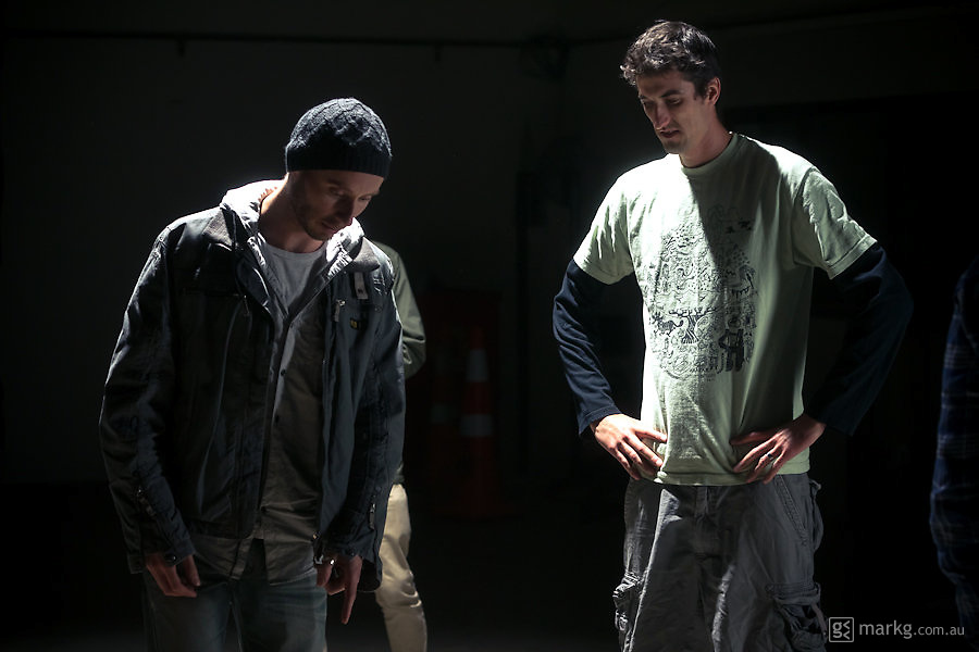 """Production images from the film shoot  """"Trick Meter"""" in Wellington, New Zealand, for Stikman Films, May 2012"""
