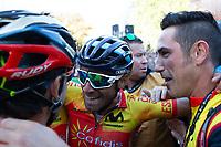 Picture by Alex Whitehead/SWpix.com - 30/09/2018 - Cycling - UCI 2018 Road World Championships - Innsbruck-Tirol, Austria - Elite Men's Road Race - Alejandro Valverde of Spain wins gold.