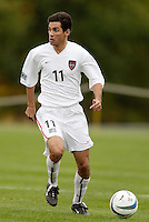Pablo Brenes of the MetroStars. The MetroStars defeated the Chicago Fire 2-0 during the inaugural Hall of Fame game on Monday October 11, 2004 at At-A-Glance Field at the National Soccer Hall of Fame and Museum, Oneonta, NY..