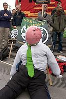 That Guy's wearing Nick Owen's Tie! <br /> BBC Pensions Strike Mailbox Birmingham 5th Nov 2010