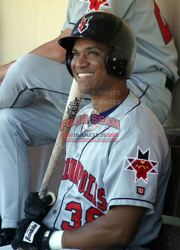 February 2, 2003:  Wilton Veras of the Indianapolis Indians, Class-AAA affiliate of the Milwaukee Brewers, during an International League game at Frontier Field in Rochester, NY.  Photo by:  Mike Janes/Four Seam Images