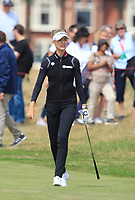 Nelly Korda (USA) on the 2nd fairway during Round 3 of the Ricoh Women's British Open at Royal Lytham &amp; St. Annes on Saturday 4th August 2018.<br /> Picture:  Thos Caffrey / Golffile<br /> <br /> All photo usage must carry mandatory copyright credit (&copy; Golffile | Thos Caffrey)