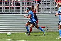 Boyds, MD - Sunday July 31, 2016: Erin Simon, Cali Farquharson during a regular season National Women's Soccer League (NWSL) match between the Washington Spirit and Sky Blue FC at Maureen Hendricks Field, Maryland SoccerPlex. The Washington Spirit defeated Sky Blue FC 3-1.