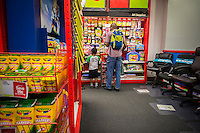 Back to school supplies are seen in a Staples store in New York on Saturday, August 17, 2013.  The back-to-school shopping season is the second busiest time for retailers. (© Richard B. Levine)