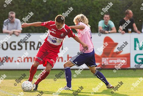 2014-07-26 / Voetbal / Seizoen 2014-2015 / Oefenwedstrijd / Hoogstraten VV-RSC Anderlecht beloften / Zeb Jacobs (Hoogstraten)<br /> <br /> Foto: Mpics.be
