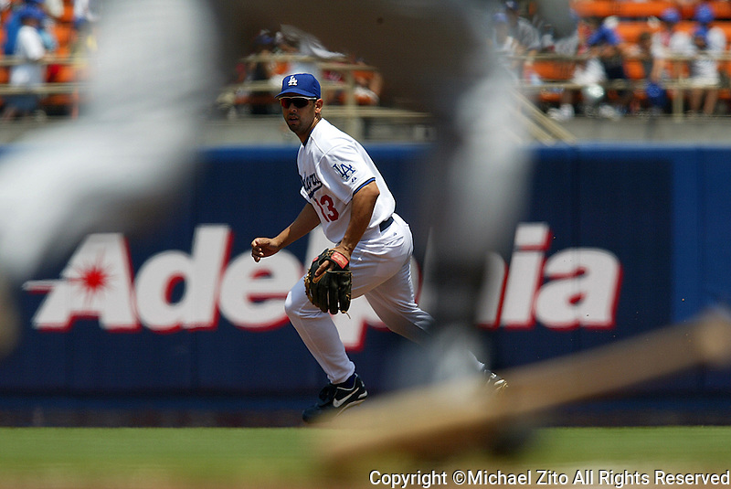 Alex Cora In a MLB game played at Dodger Stadium betwen the Colorado Rockies and the Los Angeles Dodgers where the Dodgers defeated the rockies 1-0 in 11 innings