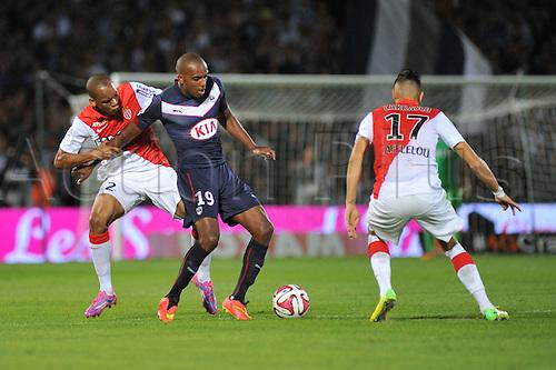17.08.2014. Bordeaux, France. French League 1 football. Bordeaux versus Monaco.  NICOLAS MAURICE-BELAY and FABINHO