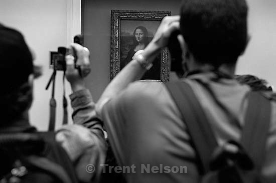 The Mona Lisa, at the Louvre<br />