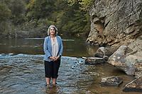 Portrait of Caroline Armijo at Moratock State Park on the Dan River in Danbury, North Carolina, Saturday, October 12, 2019  (Justin Cook)