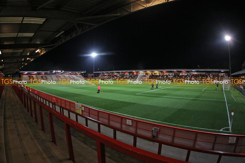 General view of the ground during Tottenham Hotspur U21 vs Liverpool U21 at the Lamex Stadium, Stevenage FC