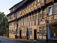 Fachwerkhäuser in der Knochenhauer Str., Einbeck, Niedersachsen, Deutschland, Europa<br /> Half timbered houses in Knochenhauer St. , Einbeck, Lower Saxony, Germany, Europe