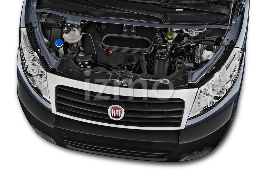 Car Stock 2015 Fiat SCUDO EXECUTIVE 5 Door Combi Engine high angle detail view