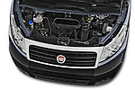 Car Stock 2015 Fiat SCUDO EXECUTIVE 5 Door Combi Engine high angle detail view