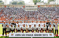 SÃO PAULO, SP,25 JANEIRO 2012 - COPA SAO PAULO DE FUTEBOL JUNIOR 2012 - <br /> Time posado do corinthians durante partida entre as equipes do Corinthians x Fluminense realizada no Estádio Paulo Machado de Carvalho (SP), válido pela final da Copa São Paulo de Futebol Junior 2012, na manhã desta  quarta feira (25). (FOTO: ALE VIANNA - NEWS FREE).