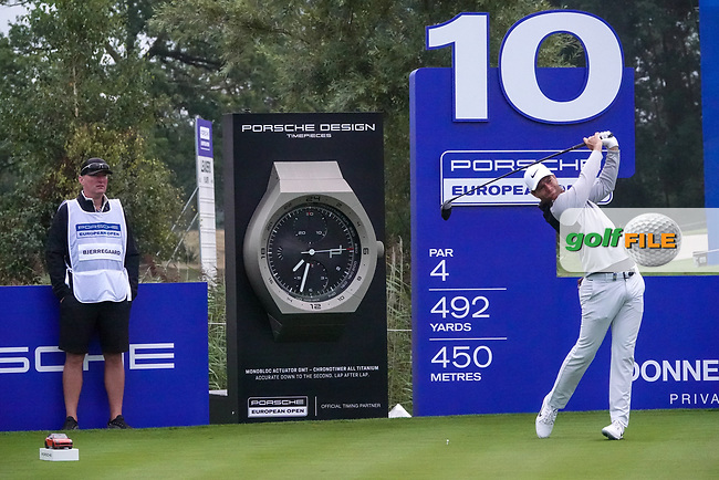Lucas Bjerregaard (DEN) in action during the ProAm ahead of the Porsche European Open, Green Eagle Golf Club, Hamburg, Germany. 04/09/2019<br /> Picture: Golffile | Phil Inglis<br /> <br /> <br /> All photo usage must carry mandatory copyright credit (© Golffile | Phil Inglis)