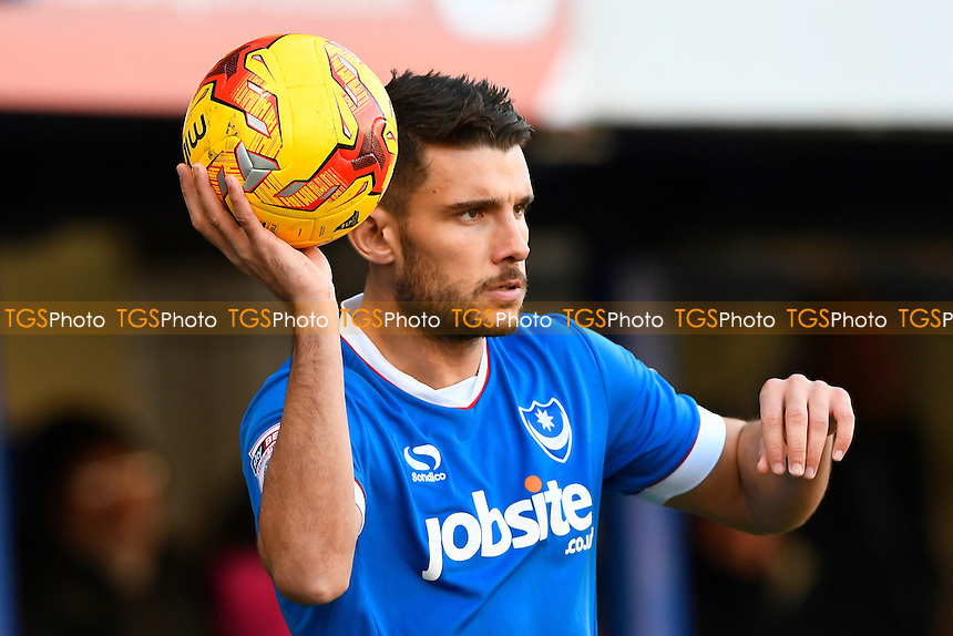 Gareth Evans of Portsmouth during Portsmouth vs Exeter City, Sky Bet EFL League 2 Football at Fratton Park on 28th January 2017