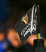 8th September 2017, RDS Arena, Dublin, Ireland; Guinness Pro14 Rugby, Leinster versus Cardiff Blues; The new Guinness Pro 14 corner flag