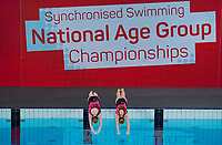 Picture by Allan McKenzie/SWpix.com - 25/11/2017 - Swimming - Swim England Synchronised Swimming National Age Group Championships 2017 - GL1 Leisure Centre, Gloucester, England - Swim England, Championships, branding, Emily Jackson & Gabriella Jackson.