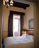 CROATIA, Dubrovnik, Dalmatian Coast, Island, interior of bedroom at Pucic Palace Hotel.