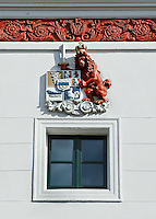 Zaandam- Wapen van Zaandam. Gevelsteen aan de gevel van de Burcht in Zaandam