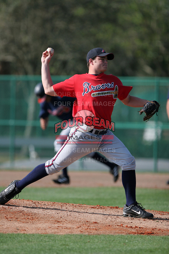 Atlanta Braves minor leaguer Casey Beck during Spring Training at Disney's Wide World of Sports on March 15, 2007 in Orlando, Florida.  (Mike Janes/Four Seam Images)