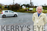 Cllr Michael Gleeson at the dangerous Coolcaslagh Junction in Killarney
