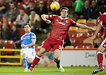 Aberdeen v St Johnstone&hellip;22.09.16.. Pittodrie..  Betfred Cup<br />Danny Swanson&rsquo;s shot goes just over the bar<br />Picture by Graeme Hart.<br />Copyright Perthshire Picture Agency<br />Tel: 01738 623350  Mobile: 07990 594431