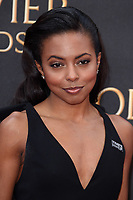 Adrienne Warren arriving for the Olivier Awards 2018 at the Royal Albert Hall, London, UK. <br /> 08 April  2018<br /> Picture: Steve Vas/Featureflash/SilverHub 0208 004 5359 sales@silverhubmedia.com