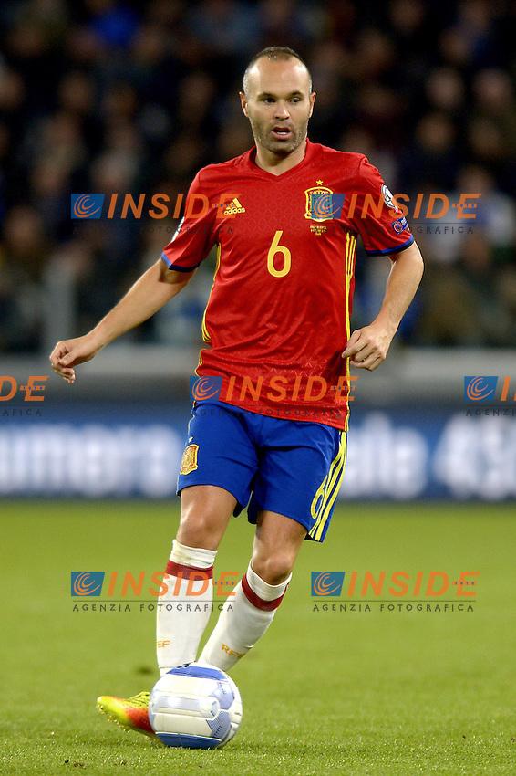 Andres Iniesta Spain,<br /> Torino 06-10-2016 Juventus Stadium <br /> World Cup Qualifiers Italy - Spain / Italia - Spagna. Foto Filippo Alfero / Insidefoto