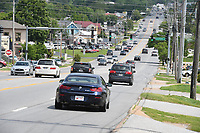 NWA Democrat-Gazette/J.T. WAMPLER Traffic flows Monday May 6, 2019 on College Ave in Fayetteville. The city has released a first draft of the written study for its U.S. 71B Corridor Plan. An open house on the study will be open to the public Tuesday.