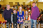Hickey School of Dancing: Finalists in the Liam Dineen Memorial Shield dancing competition at Scoil Realta na Maidna on Sunday last. L-R: Jimmy Hickey, Patrick Brosnan, Sarah McKenna, Aideen Quinlan & Ted Kenny.