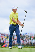 Jordan Spieth (USA) watches his tee shot on 7 during Saturday's round 3 of the 117th U.S. Open, at Erin Hills, Erin, Wisconsin. 6/17/2017.<br /> Picture: Golffile | Ken Murray<br /> <br /> <br /> All photo usage must carry mandatory copyright credit (&copy; Golffile | Ken Murray)
