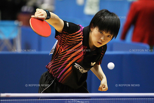Ayuka Tanioka, .January 18, 2012 - Table Tennis : .All Japan Table Tennis Championships, Women's Junior Singles 3rd Round .at Tokyo Metropolitan Gymnasium, Tokyo, Japan. .(Photo by Daiju Kitamura/AFLO SPORT) [1045]