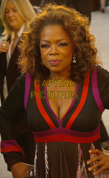 OPRAH WINFREY.The 2007 Vanity Fair Oscar Party Hosted by Graydon Carter held at Morton's, West Hollywood, California, USA,.25 February 2007..half length black and red purple dress.CAP/ADM/GB.©Gary Boas/AdMedia/Capital Pictures.