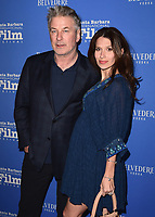 "SANTA BARBARA, CA - JANUARY 31:  Alec Baldwin and Hilaria Baldwin at the 33rd Santa Barbara International Film Festival Opening Night Film - ""The Public"" at the Arlington Theatre on January 31, 2018 in Santa Barbara, California. (Photo by Scott Kirkland/PictureGroup)"
