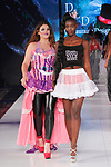 Fashion designer walks runway with model at the close of her De Lauraine Designs collection fashion show, at The Society Fashion Week on September 9, 2018 at The Roosevelt Hotel in New York City, during New York Fashion Week Spring Summer 2019.