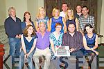 Alison Flaherty, Castlemaine, pictured with Gertie Jones, Pete Flaherty, Gareth Flaherty, Shirley Jones, Tim Moroney, Shaune Moroney, Fiona Boyle, Siobhan O'Sullivan, Dermot Finn, Fiona Flaherty, Evan Kelliher and Bert Cournane,as  she celebrated her 40th birthday in Griffins Bar, Castlemiane on Saturday night. ........................................................................................................