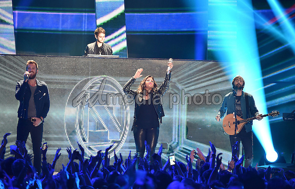 10 June 2015 - Nashville, Tennessee - Lady Antebellum, Charles Kelley, Hillary Scott and Dave Haywood. 2015 CMT Music Awards held at Bridgestone Arena. Photo Credit: Laura Farr/AdMedia