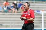 02 April 2016: Minnesota assistant coach Peter Rivard. The Carolina RailHawks hosted Minnesota United FC at WakeMed Stadium in Cary, North Carolina in a 2016 North American Soccer League Spring Season game. Carolina won the game 2-1.