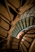 Stairs wind upward through the North Head lighthouse on Long Beach peninusla in Washington State Saturday Feb. 7, 2009.