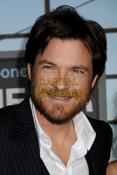 "JASON BATEMAN  .Attending the ""Up In The Air"" Los Angeles Premiere held at Mann's Village Theatre, Westwood, California , USA, .30th November 2009..portrait headshot black  white shirt beard facial hair  navy blue pinstripe .CAP/ADM/BP.©Byron Purvis/AdMedia/Capital Pictures."