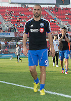 July 3, 2013: Montreal Impact forward Marco Di Vaio #9  leaves the pitch after the warm-up during an MLS game between Toronto FC and Montreal Impact at BMO Field in Toronto, Ontario Canada.<br /> The game ended in a 3-3 draw.