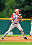 24 July 2010: Lowell Spinners infielder Kolbrin Vitek in action against the Vermont Lake Monsters at Centennial Field in Burlington, Vermont. The Spinners defeated the Lake Monsters 11-5 in NY Penn League action. Mandatory Credit: Ed Wolfstein Photo