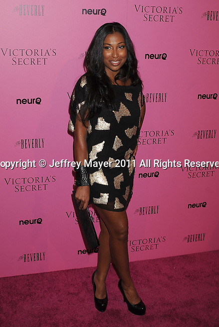 "LOS ANGELES, CA - MAY 12: Melanie Fiona arrives to the Victoria's Secret 6th Annual ""What Is Sexy? List: Bombshell Summer Edition"" Pink Carpet Event at The Beverly on May 12, 2011 in Los Angeles, California."