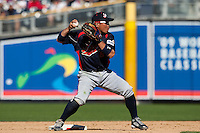 15 March 2009: #8 Akinori Iwamura of Japan throws the ball during the 2009 World Baseball Classic Pool 1 game 1 at Petco Park in San Diego, California, USA. Japan wins 6-0 over Cuba.