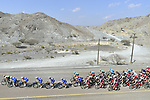The peloton in action during Stage 4 The Municipality Stage of the Dubai Tour 2018 the Dubai Tour&rsquo;s 5th edition, running 172km from Skydive Dubai to Hatta Dam, Dubai, United Arab Emirates. 9th February 2018.<br /> Picture: LaPresse/Fabio Ferrari | Cyclefile<br /> <br /> <br /> All photos usage must carry mandatory copyright credit (&copy; Cyclefile | LaPresse/Fabio Ferrari)