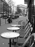 Cafe and Champs Elysees