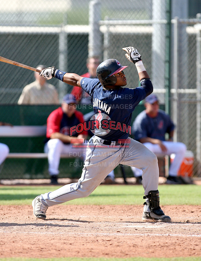 Carlos Santana / Cleveland Indians 2008 Instructional League..Photo by:  Bill Mitchell/Four Seam Images